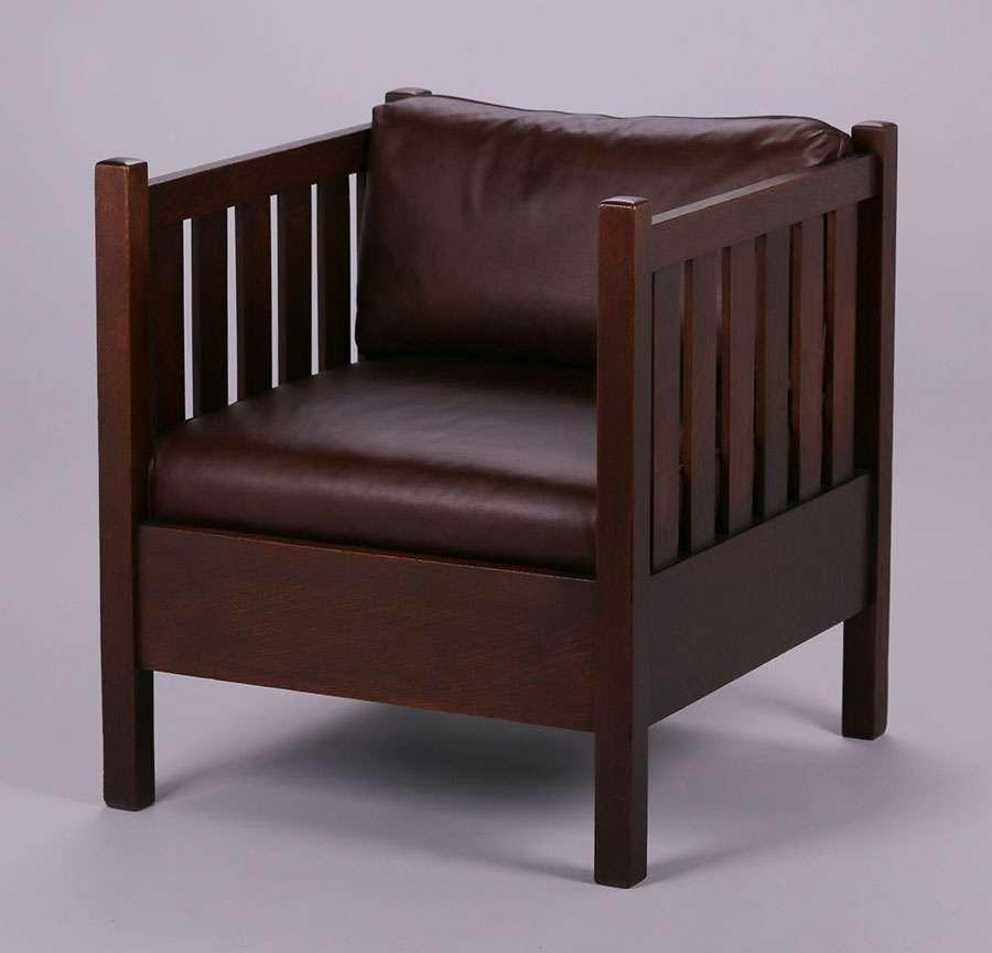 Gustav Stickley Cube Chair California Historical Design