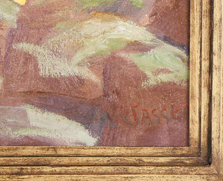 Otto Classen Painting Of Desert Mountains C1920s