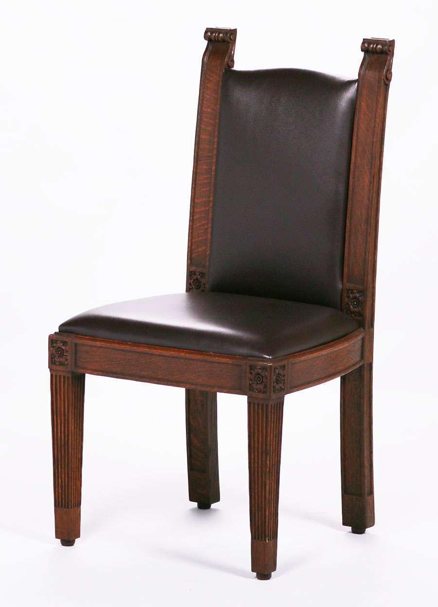Gustav Stickley Furniture For Sale Set of 6 Mathews Furniture Shop Dining Chairs c1907-1918 | California ...
