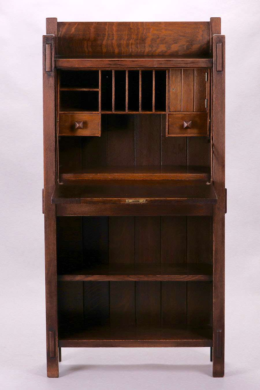 Early Gustav Stickley Strap Hinge Dropfront Desk C1901