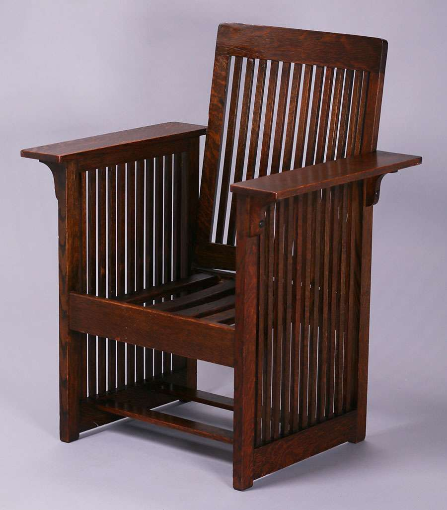Phoenix Furniture Co Spindled Armchair David Kendall c1900
