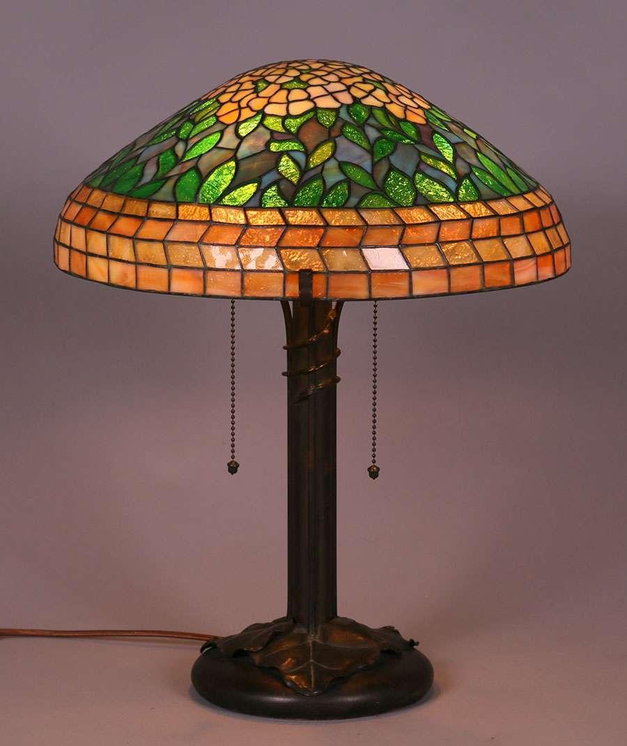 Riviere Studios Leaded Glass Lamp C1910 California Historical Design