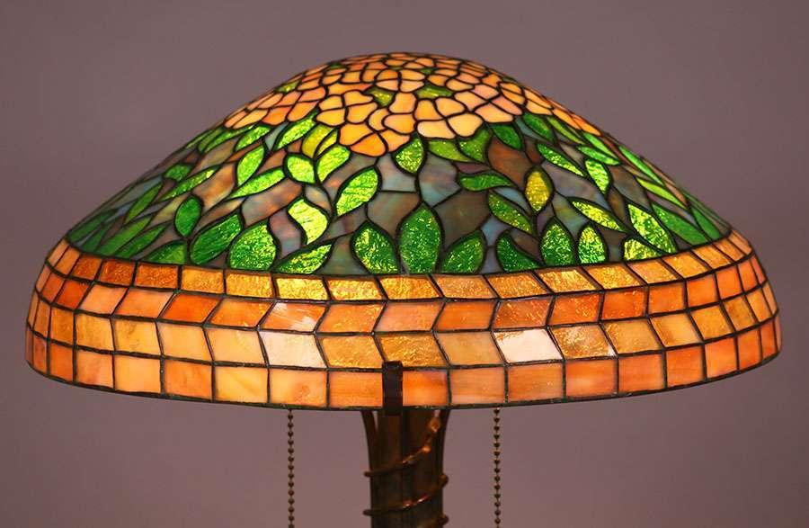 Riviere Studios Leaded Glass Lamp C1910 California