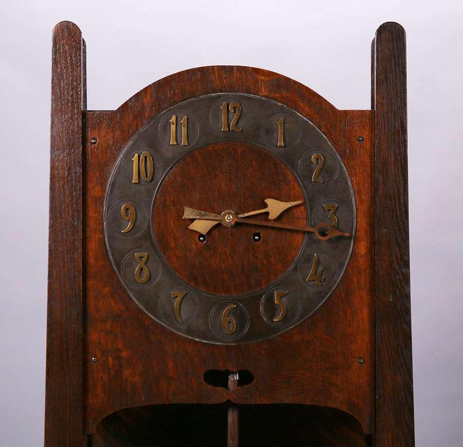 Stickley Brothers Grandfather Clock California Historical Design