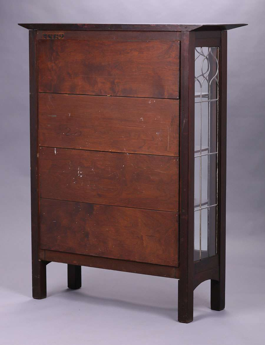 Tobey Furniture Co Leaded Glass Two Door China 5862