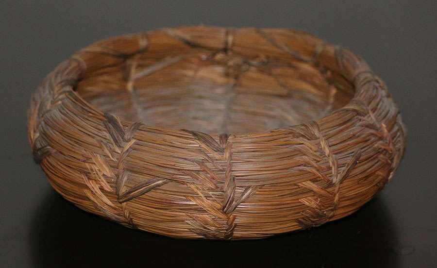 W R Clay Native American Pine Needle Basket California