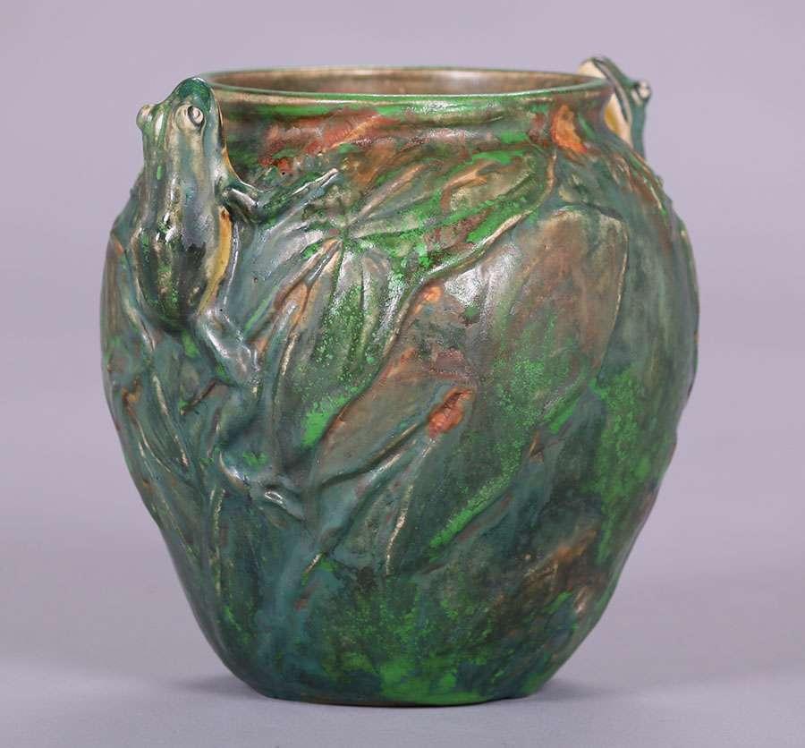 Work Van For Sale >> Three Weller Coppertone Vases | California Historical Design
