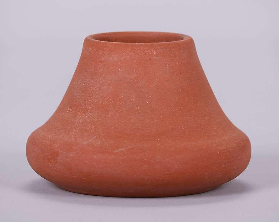 California Faience Unglazed Bisque Vase California Historical Design