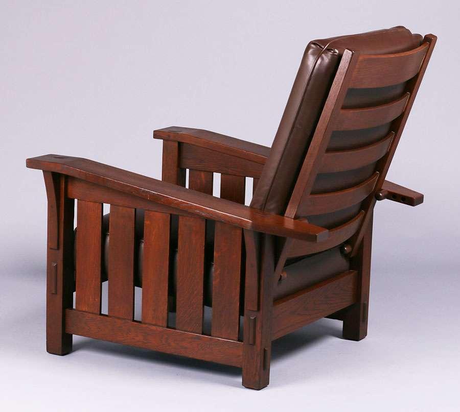 Gustav Stickley #369 Bentarm Morris Chair | California ...  |Morris California Furniture