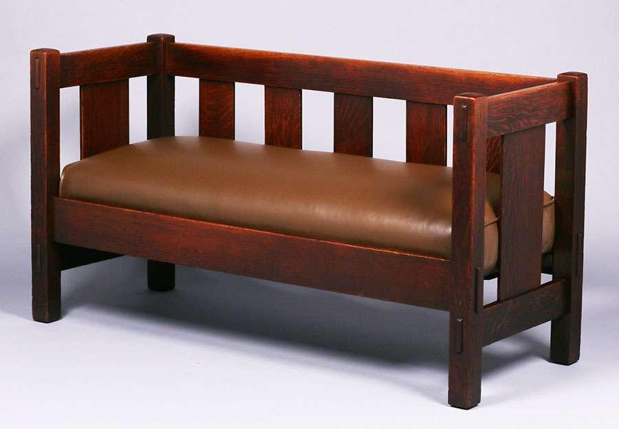 Miraculous Gustav Stickley Evenarm Hall Bench C1912 1915 California Beatyapartments Chair Design Images Beatyapartmentscom