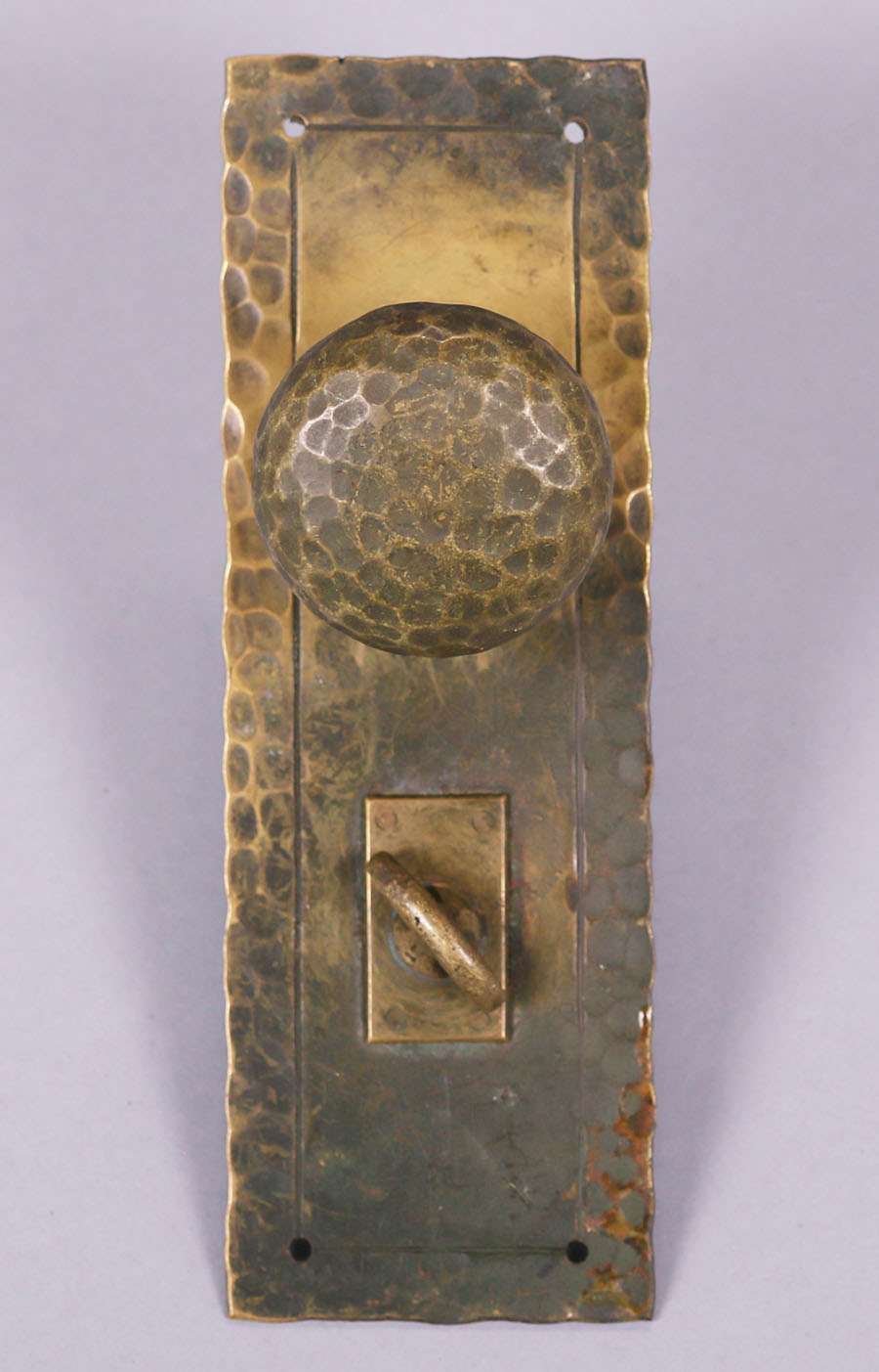 Arts Amp Crafts Hammered Brass Door Knob Set C1910