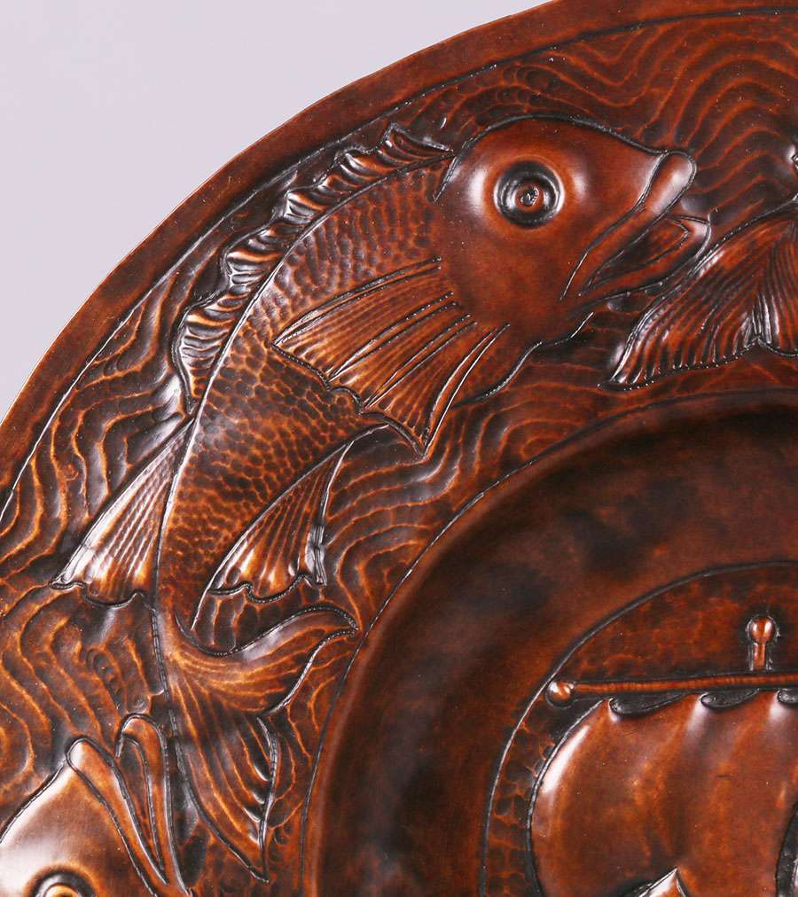 Newlyn Hammered Copper Charger California Historical Design
