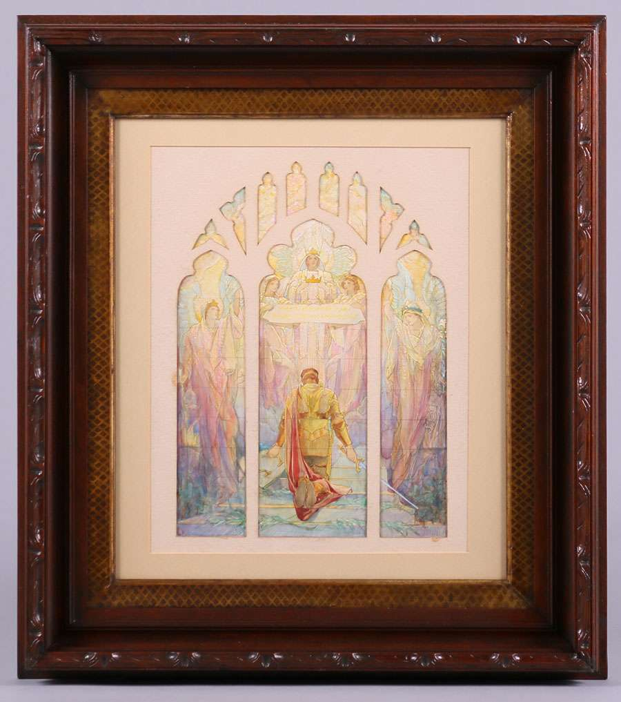 Frederick Wilson Watercolor Rendering For Tiffany Stained
