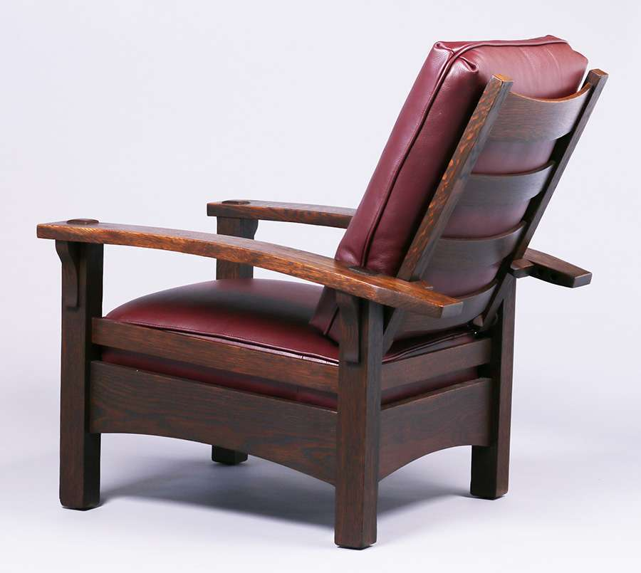 Early Gustav Stickley Bowarm Morris Chair C1902