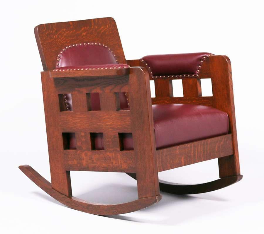 Furniture Ca: Lot 780. Karpen Furniture Co Cutout Rocker