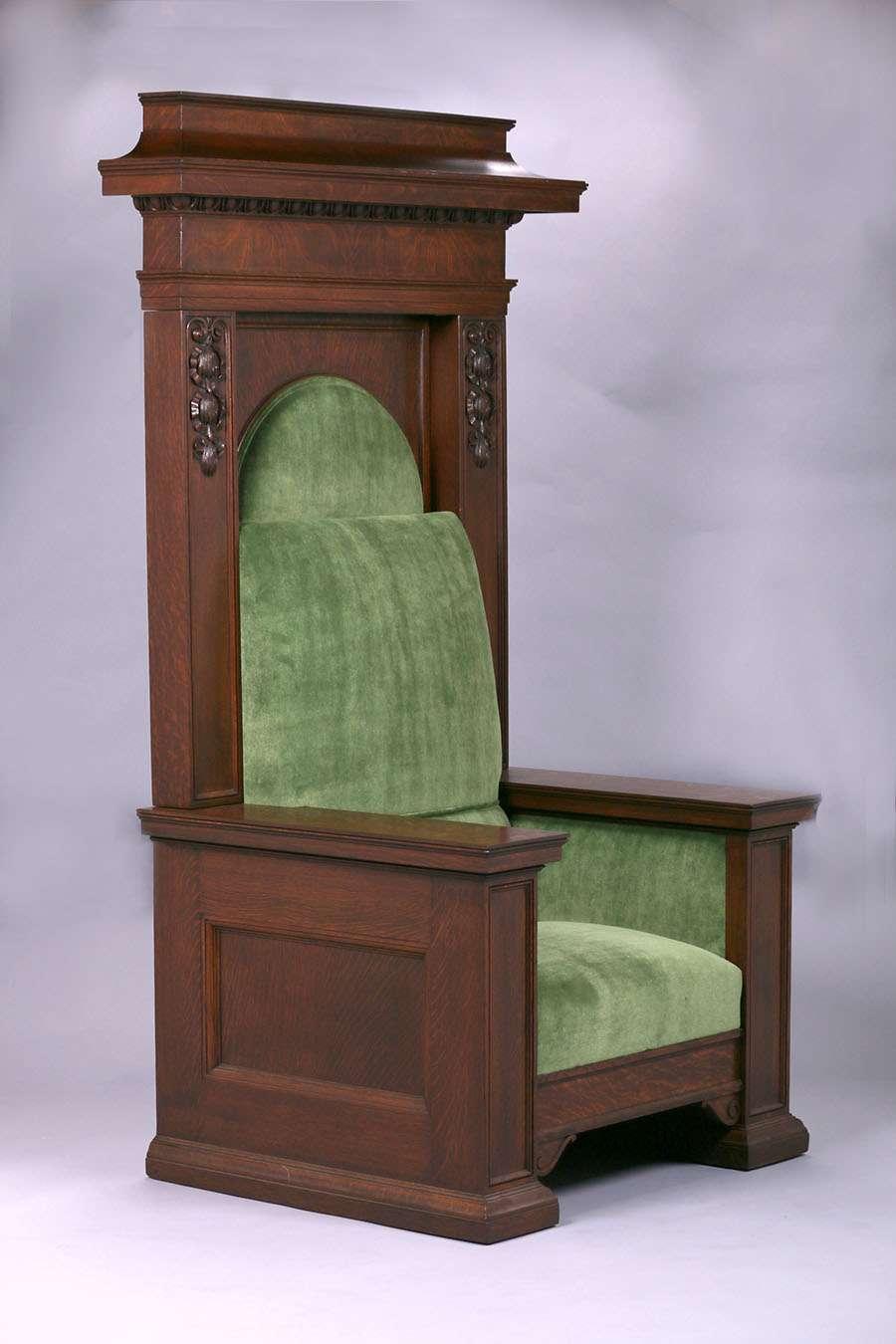 Mathews Furniture Shop Throne Chair
