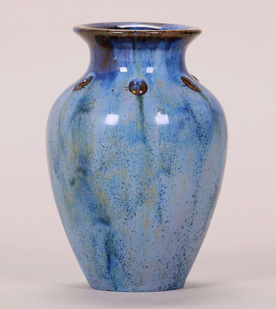 Fulper Blue Vase California Historical Design