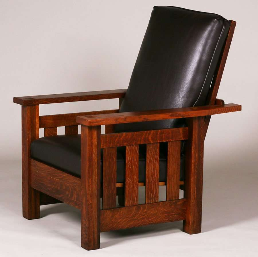 Lifetime Furniture Co Heavy Slatted Morris Chair C1910