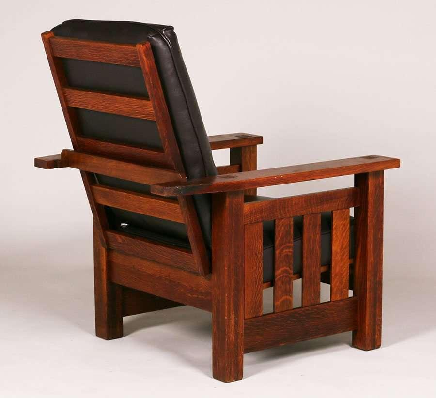 Rare L&JG Stickley Paddle-Arm Morris Chair | California ...  |Morris California Furniture