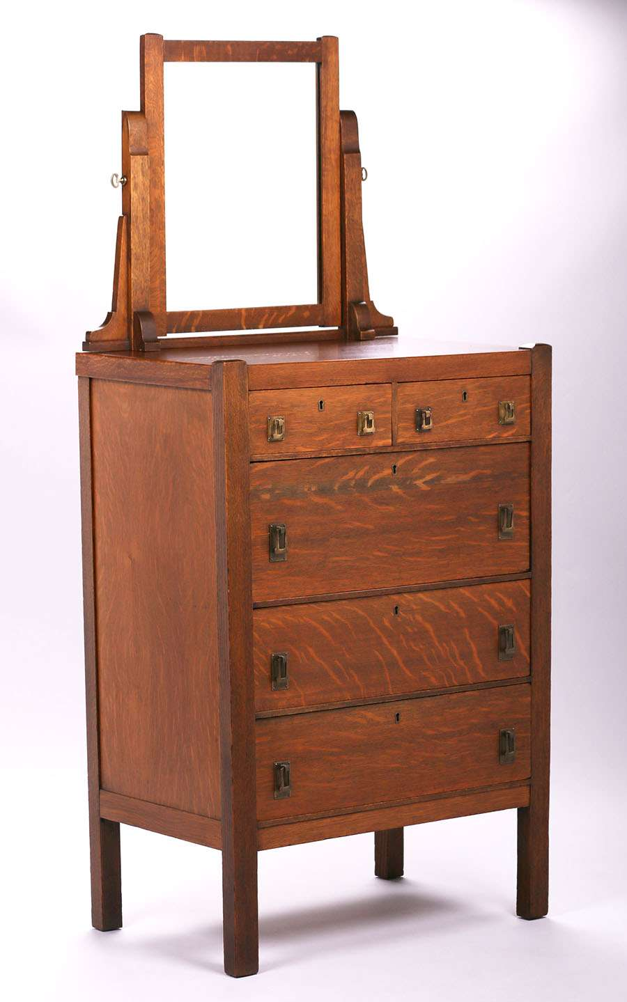 Luce Furniture Co Tall Dresser With Mirror C1910 Original Finish Signed Both Label And Retailer S From Denver