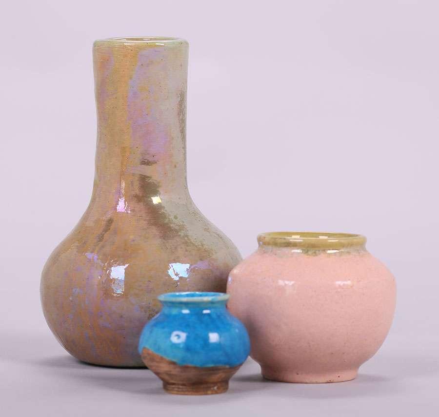 Three Pewabic Vases California Historical Design