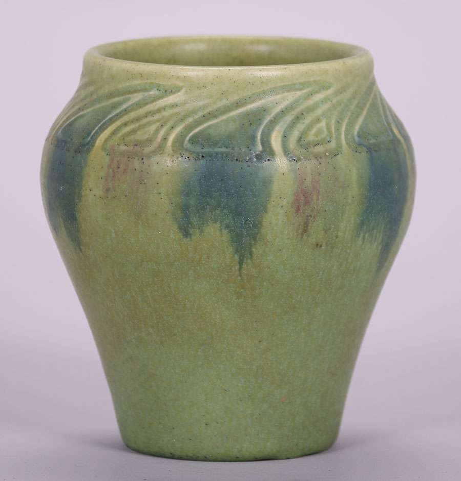 Rookwood William Henschel Matte Green Vase 1913 California Historical Design