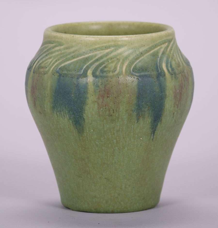 Rookwood William Henschel Matte Green Vase 1913