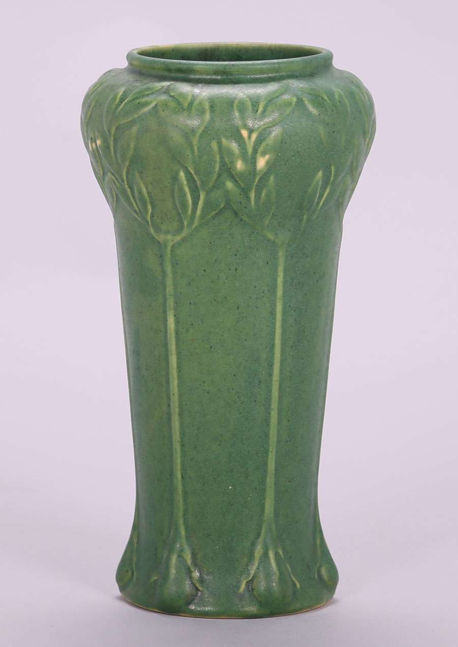 Roseville Chloron Matte Green Vase California Historical Design