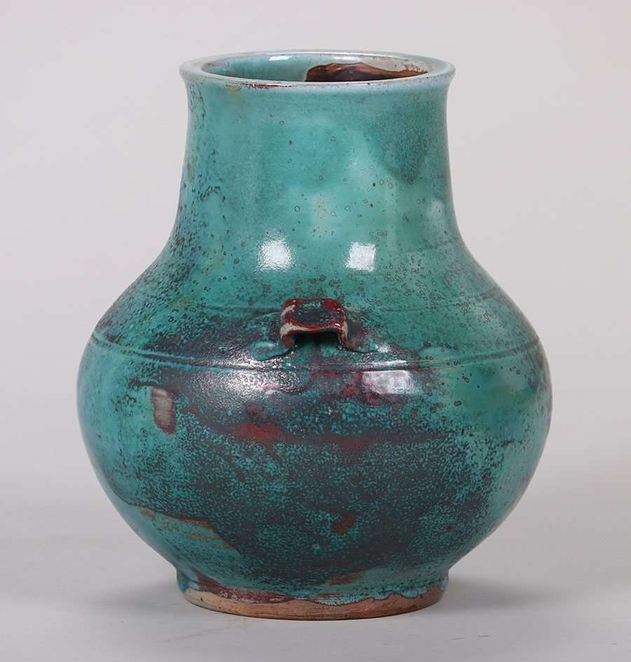 Jugtown Pottery Two Handled Vase California Historical Design