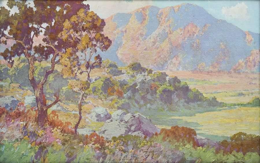 Vintage Maurice Braun Print San Gabriel Mountains C1910