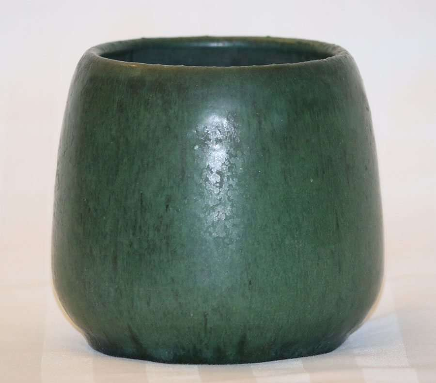 Merrimac Pottery Matte Green Vase California Historical Design