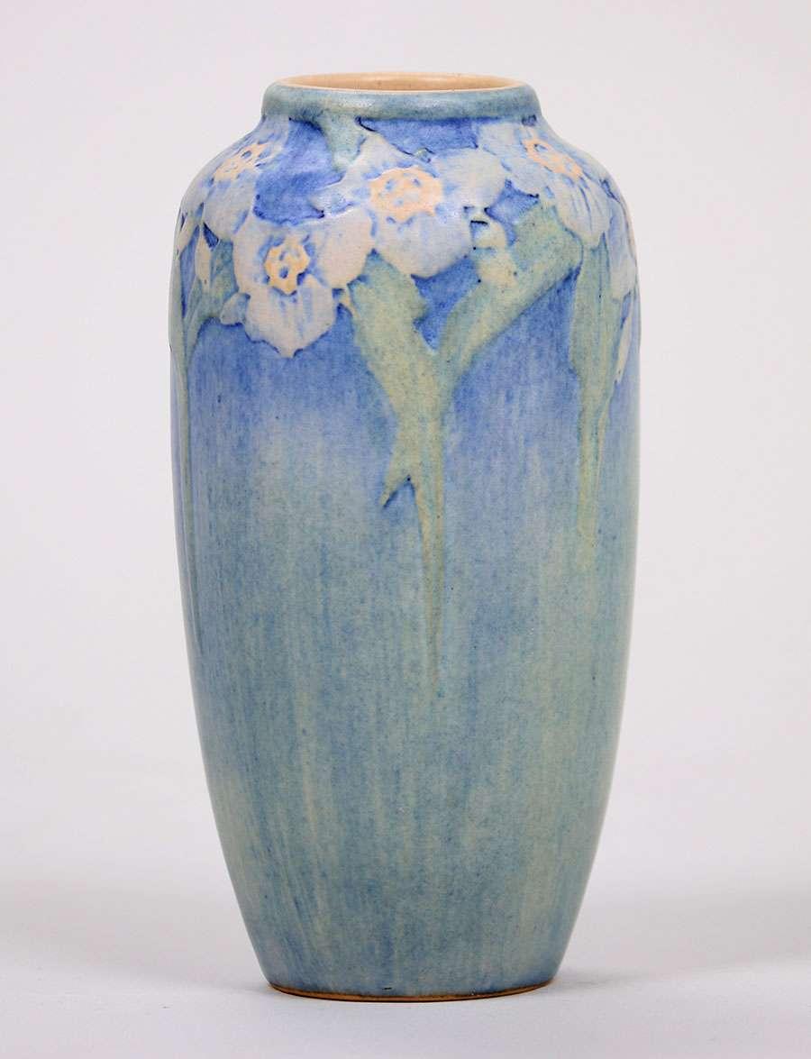 Newcomb College Floral Vase Henrietta Bailey 1916