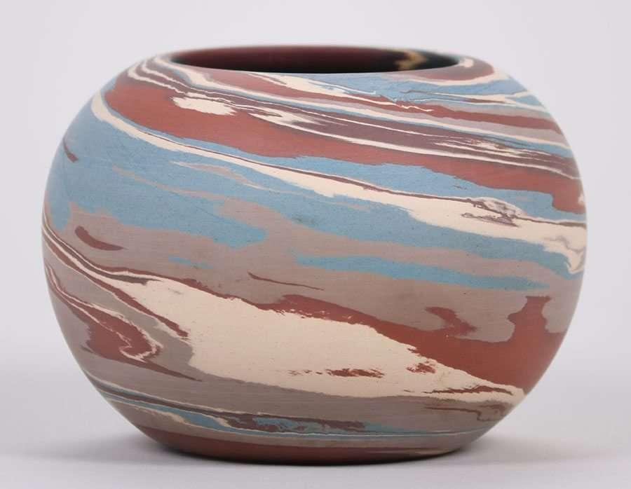 Niloak Mission Swirl Spherical Vase California Historical Design