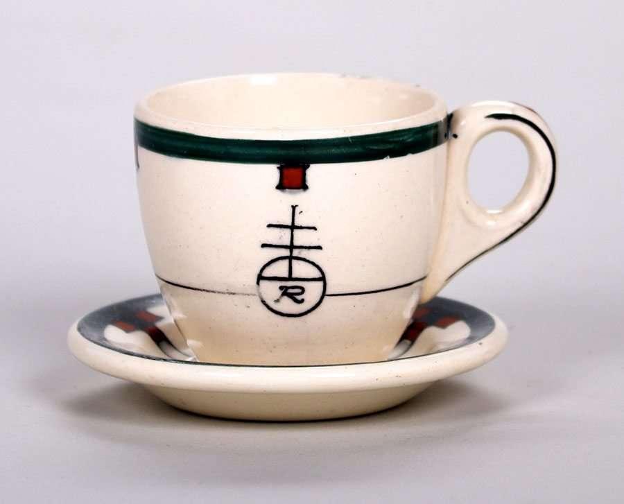 Roycroft Buffalo China Tea Cup Amp Saucer C1920s California Historical Design