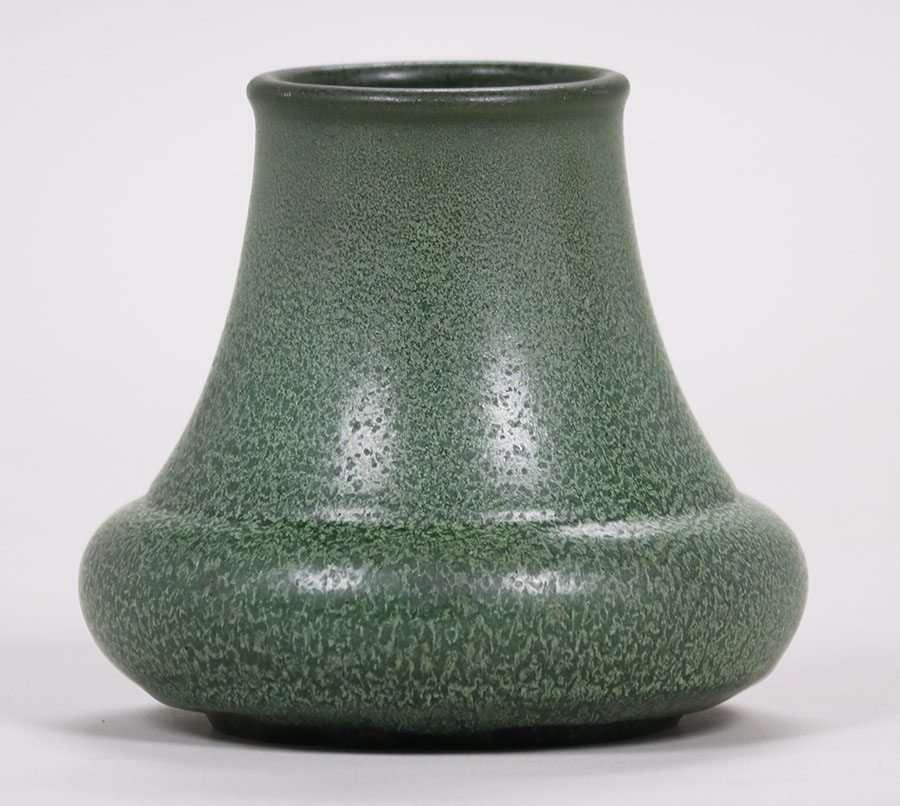 Hampshire Pottery Matte Green Vase California Historical Design
