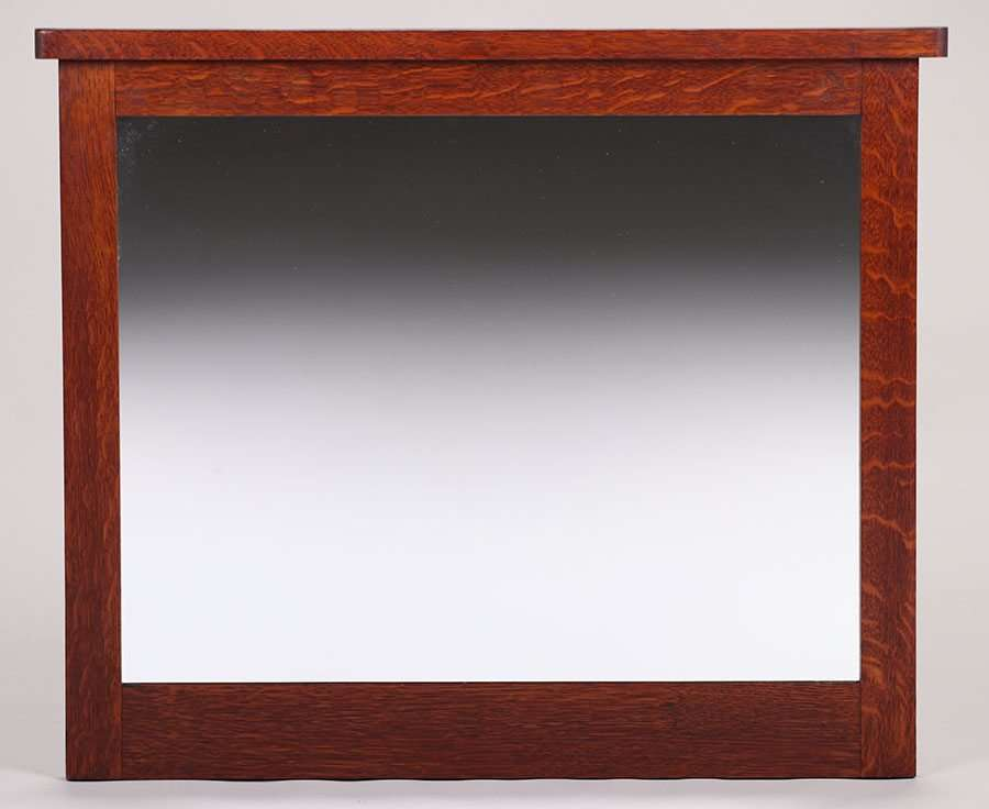 L&JG Stickley Oak Framed Mirror c1912-1916 | California Historical ...