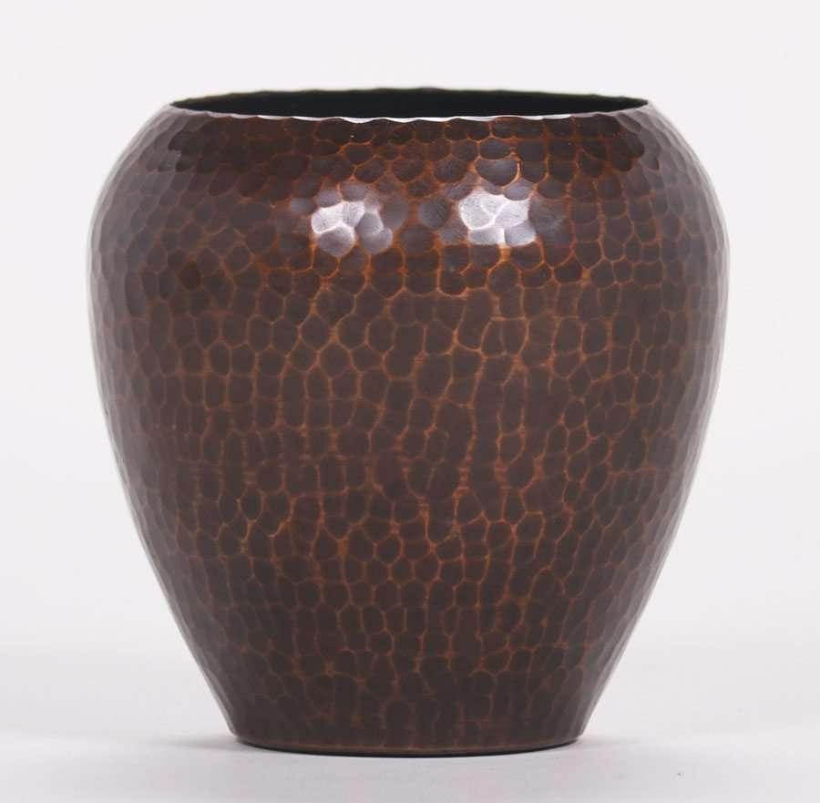Roycroft Hammered Copper Bulbous Vase California Historical Design