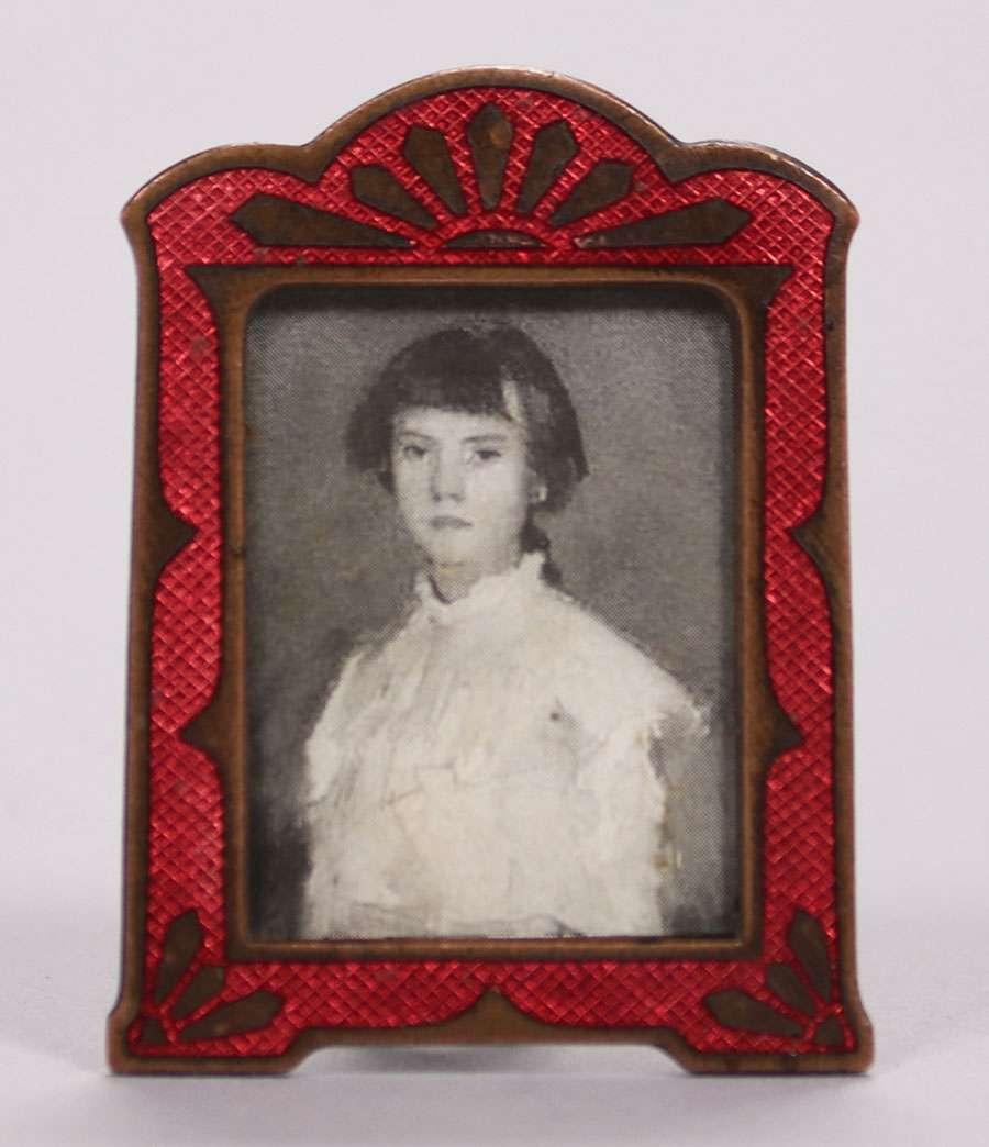 Miniature Arts & Crafts Copper & Enamel Frame c1905-1910 ...