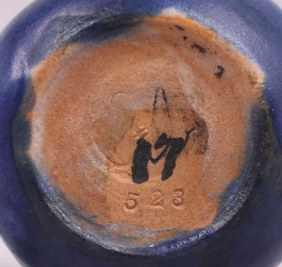 Frederick Rhead Santa Barbara Matte Blue Cabinet Vase