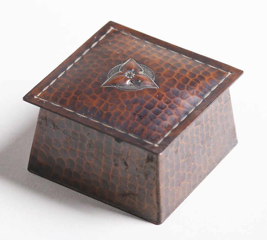 Exhibition Stand Design Articles : Roycroft hammered copper square inkwell california