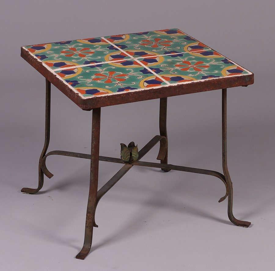 Spanish Revival   California Arts U0026 Crafts Tile Top Table C1920s |  California Historical Design