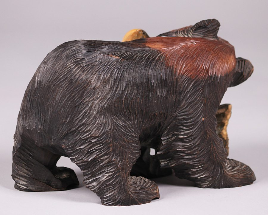 Japanese Arts Amp Crafts Hand Carved Hokkaido Bears California Historical Design