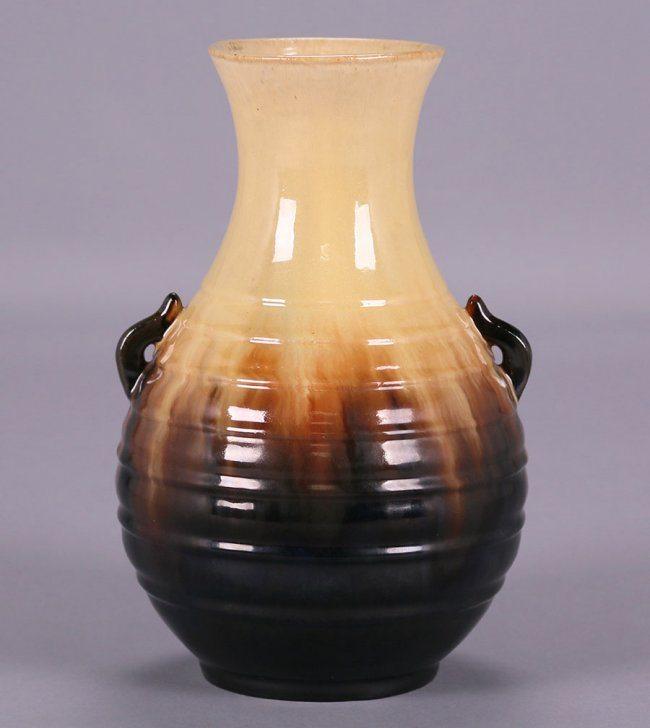 Fulper Two Handled Vase California Historical Design