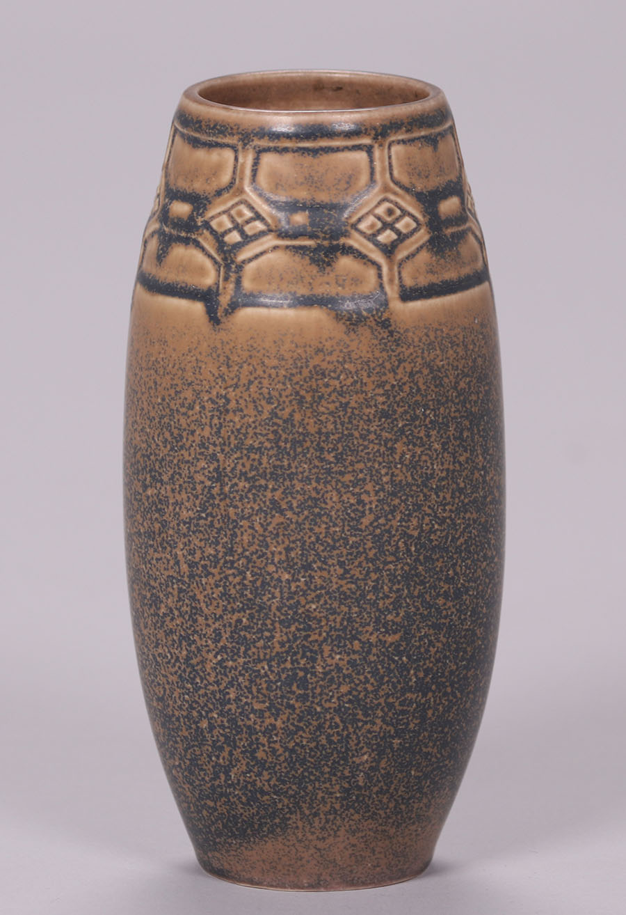 Rookwood Matte Brown Ombroso Glaze Vase 1923 California