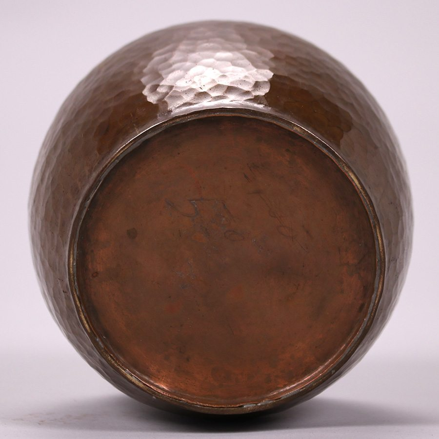 Harry dixon hammered copper vase c1920 1925 california harry st john dixon hammered copper vase c1920 1925 unsigned excellent original patina original 5 price on bottom 5h x 5d sold reviewsmspy
