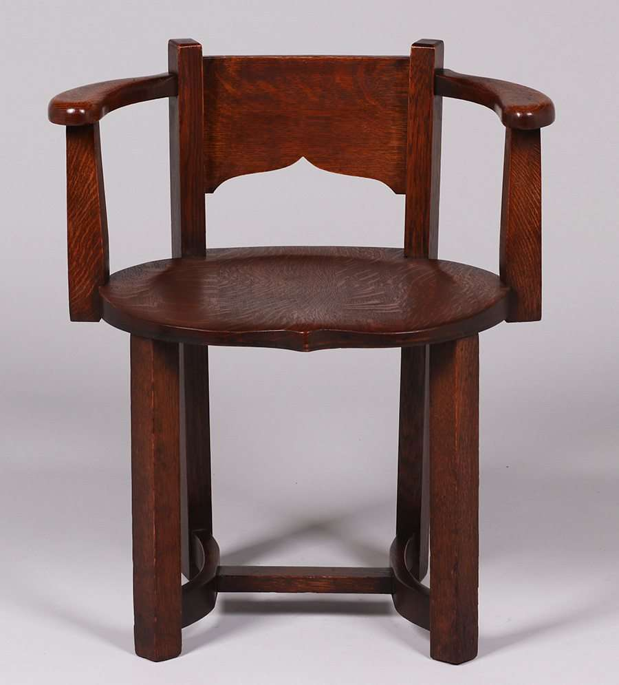 Grand Rapids curved-back armchair - Grand Rapids Furniture Co Archives California Historical Design