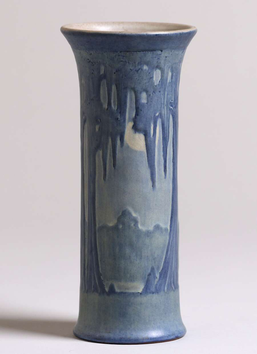 Newcomb college tall flared scenic vase california historical design reviewsmspy