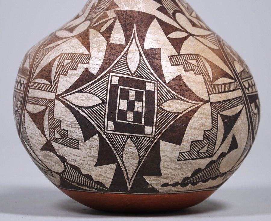 Acoma Pueblo Double Wedding Vase C1910 California Historical Design