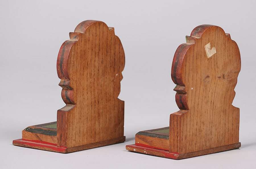 Periods/styles Arts And Crafts Carved Floral Oak Bookends Arts & Crafts Movement