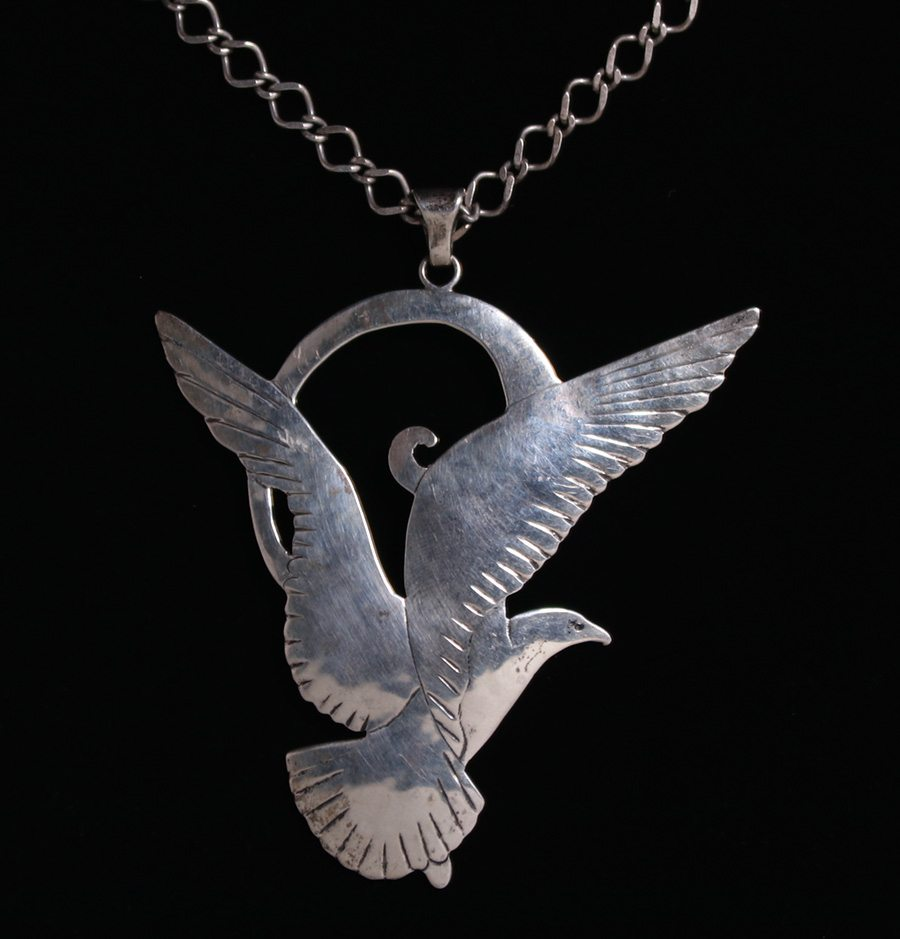 Gregor panis sterling silver seagull pendant necklace california gregor panis sterling silver seagull pendant necklace california historical design mozeypictures Gallery
